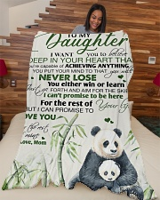 """To my daughter - I promise that I love you forever Large Fleece Blanket - 60"""" x 80"""" aos-coral-fleece-blanket-60x80-lifestyle-front-04"""