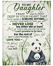 """To my daughter - I promise that I love you forever Large Fleece Blanket - 60"""" x 80"""" front"""