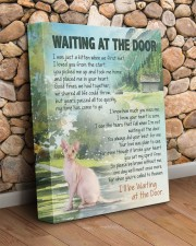 Sphynx - Waiting at the door 11x14 Gallery Wrapped Canvas Prints aos-canvas-pgw-11x14-lifestyle-front-18