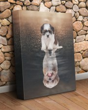 Shih Tzu- Reflection 11x14 Gallery Wrapped Canvas Prints aos-canvas-pgw-11x14-lifestyle-front-18