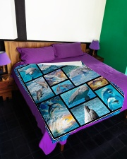 """I freaking love dolphins Large Fleece Blanket - 60"""" x 80"""" aos-coral-fleece-blanket-60x80-lifestyle-front-01"""
