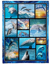 "I freaking love dolphins Large Fleece Blanket - 60"" x 80"" front"