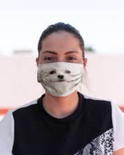 Amazing Maltese Cloth face mask aos-face-mask-lifestyle-03