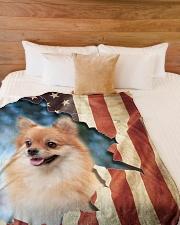 "Beautiful Pomeranian Large Fleece Blanket - 60"" x 80"" aos-coral-fleece-blanket-60x80-lifestyle-front-02"