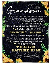 """Nana to my grandson - Just do your best Small Fleece Blanket - 30"""" x 40"""" front"""
