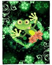 "Beautiful Green Frog Large Fleece Blanket - 60"" x 80"" front"