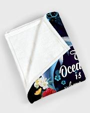 "The ocean is where I belong Large Fleece Blanket - 60"" x 80"" aos-coral-fleece-blanket-60x80-lifestyle-front-08"