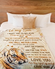 """To my son - I'll love you for the rest of my life Large Fleece Blanket - 60"""" x 80"""" aos-coral-fleece-blanket-60x80-lifestyle-front-02"""