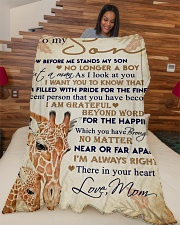 """To my son - I'm always right there in your heart Large Fleece Blanket - 60"""" x 80"""" aos-coral-fleece-blanket-60x80-lifestyle-front-04"""