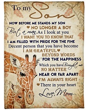 """To my son - I'm always right there in your heart Large Fleece Blanket - 60"""" x 80"""" front"""