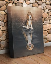 Beagle - Reflection 11x14 Gallery Wrapped Canvas Prints aos-canvas-pgw-11x14-lifestyle-front-18