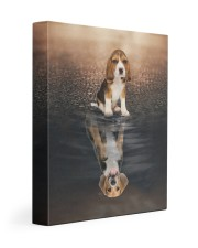 Beagle - Reflection 11x14 Gallery Wrapped Canvas Prints front