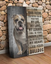 English bulldog - I am your friend 11x14 Gallery Wrapped Canvas Prints aos-canvas-pgw-11x14-lifestyle-front-18