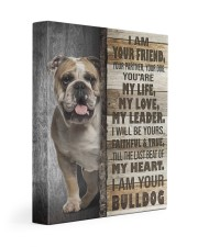 English bulldog - I am your friend 11x14 Gallery Wrapped Canvas Prints front