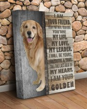 Golden retriever - I am your friend 11x14 Gallery Wrapped Canvas Prints aos-canvas-pgw-11x14-lifestyle-front-18