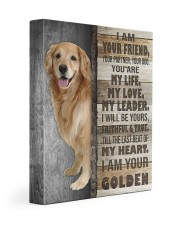 Golden retriever - I am your friend 11x14 Gallery Wrapped Canvas Prints front