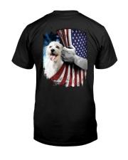 Maltese American flag Classic T-Shirt back