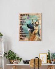 German Shepherd - In your heart 16x20 Gallery Wrapped Canvas Prints aos-canvas-pgw-16x20-lifestyle-front-03