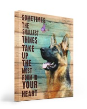 German Shepherd - In your heart 16x20 Gallery Wrapped Canvas Prints front