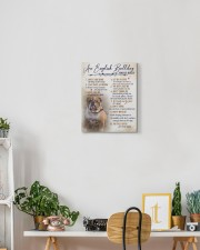 English bulldog - House rules 11x14 Gallery Wrapped Canvas Prints aos-canvas-pgw-11x14-lifestyle-front-03