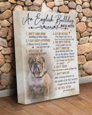 English bulldog - House rules 11x14 Gallery Wrapped Canvas Prints aos-canvas-pgw-11x14-lifestyle-front-18