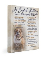 English bulldog - House rules 11x14 Gallery Wrapped Canvas Prints front