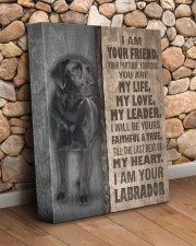 Black Labrador-canvas-I am your friends 11x14 Gallery Wrapped Canvas Prints aos-canvas-pgw-11x14-lifestyle-front-18
