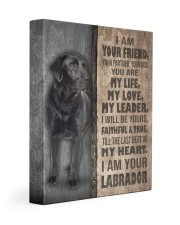 Black Labrador-canvas-I am your friends 11x14 Gallery Wrapped Canvas Prints front