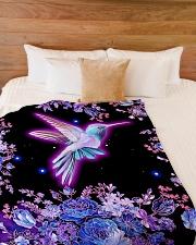 "I love hummingbirds Large Fleece Blanket - 60"" x 80"" aos-coral-fleece-blanket-60x80-lifestyle-front-02"