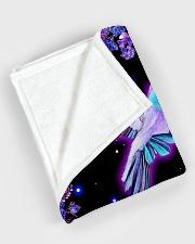 "I love hummingbirds Large Fleece Blanket - 60"" x 80"" aos-coral-fleece-blanket-60x80-lifestyle-front-08"
