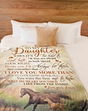 """To my daughter - I'll always be there with you Large Fleece Blanket - 60"""" x 80"""" aos-coral-fleece-blanket-60x80-lifestyle-front-02"""