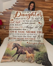 """To my daughter - I'll always be there with you Large Fleece Blanket - 60"""" x 80"""" aos-coral-fleece-blanket-60x80-lifestyle-front-04"""