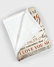 """To my daughter - I'll always be there with you Large Fleece Blanket - 60"""" x 80"""" aos-coral-fleece-blanket-60x80-lifestyle-front-08"""