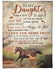 """To my daughter - I'll always be there with you Large Fleece Blanket - 60"""" x 80"""" front"""