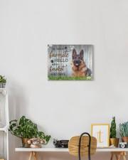 German shepherd - My favorite hello 14x11 Gallery Wrapped Canvas Prints aos-canvas-pgw-14x11-lifestyle-front-03