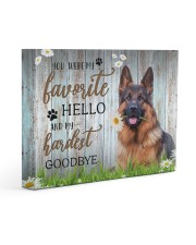 German shepherd - My favorite hello 14x11 Gallery Wrapped Canvas Prints front