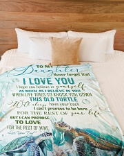 """To my daughter - Never forget that I love you Large Fleece Blanket - 60"""" x 80"""" aos-coral-fleece-blanket-60x80-lifestyle-front-02"""