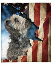 """Beautiful Dog Border Terrier Fleece Blanket - 50"""" x 60"""" front"""
