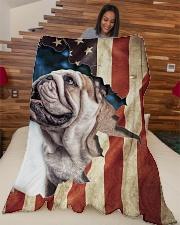 "Beautiful  English Bulldog Large Fleece Blanket - 60"" x 80"" aos-coral-fleece-blanket-60x80-lifestyle-front-04"
