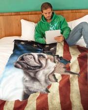 "Beautiful  English Bulldog Large Fleece Blanket - 60"" x 80"" aos-coral-fleece-blanket-60x80-lifestyle-front-06"