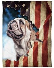 "Beautiful  English Bulldog Large Fleece Blanket - 60"" x 80"" front"