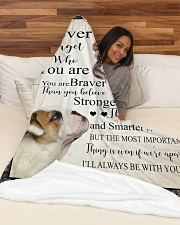 "English Bulldog - Stronger than you think Large Fleece Blanket - 60"" x 80"" aos-coral-fleece-blanket-60x80-lifestyle-front-03"