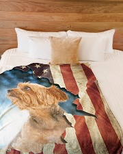 "Beautiful Yorkshire Terrier Large Fleece Blanket - 60"" x 80"" aos-coral-fleece-blanket-60x80-lifestyle-front-02"