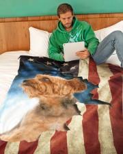 "Beautiful Yorkshire Terrier Large Fleece Blanket - 60"" x 80"" aos-coral-fleece-blanket-60x80-lifestyle-front-06"