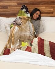 "Beautiful English bulldog and flag Large Fleece Blanket - 60"" x 80"" aos-coral-fleece-blanket-60x80-lifestyle-front-03"