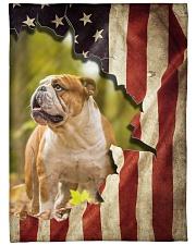 "Beautiful English bulldog and flag Large Fleece Blanket - 60"" x 80"" front"