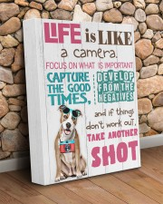 Pit Bull - Life is like a camera 11x14 Gallery Wrapped Canvas Prints aos-canvas-pgw-11x14-lifestyle-front-18