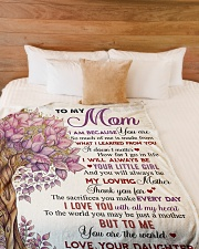"""To my mom - I love you with all my heart Large Fleece Blanket - 60"""" x 80"""" aos-coral-fleece-blanket-60x80-lifestyle-front-02"""