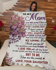"""To my mom - I love you with all my heart Large Fleece Blanket - 60"""" x 80"""" aos-coral-fleece-blanket-60x80-lifestyle-front-04"""