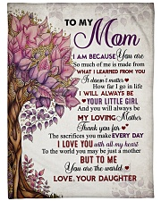 """To my mom - I love you with all my heart Large Fleece Blanket - 60"""" x 80"""" front"""
